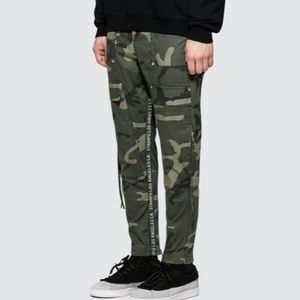 STAMPD Drill Cargo Zip Pockets Camo Pants Large